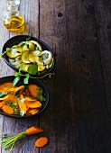Marinated carrots and courgette with lemons (Paleo)