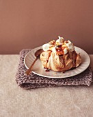Coffee pavlova with walnut cream
