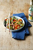 Quick stir-fried chicken with frozen vegetables and chilli (simple glyx)