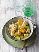 Chicken curry with cauliflower and courgette