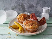 Bacon and cream cheese muffins with jalapeños (LCHF)