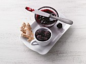 Blackberry jam wih ginger