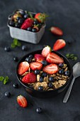 Wholemeal muesli with fruit