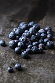 Blueberries on a slate platter