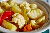 Vegetable salad with cauliflower and pepper