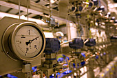 Pressure gauge at cryogenics plant,CERN