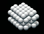 Hexagonal close-packed crystal lattice