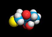 Captopril drug molecule
