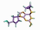 Abacavir AIDS drug molecule