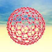 Fullerene molecule,computer artwork
