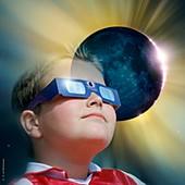 Watching solar eclipse
