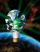 Green energy,conceptual artwork