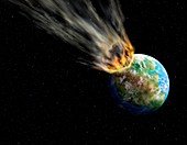 Pangea asteroid,artwork