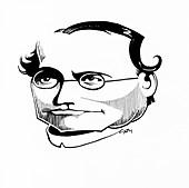 Gregor Mendel,caricature