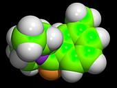 DEET insect repellent molecule
