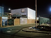Industrial estate at night