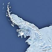 Wilkins Ice Shelf on Antarctic Peninsula