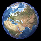 Eurasia,topographic map