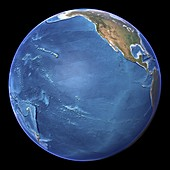 Pacific Ocean,topographic map