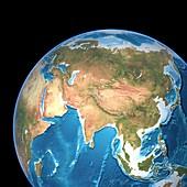 Asia,topographic map