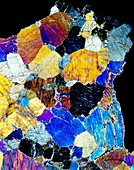 Pyroxenite mineral,light micrograph