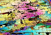 Hornblendite rock,light micrograph