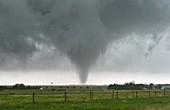 Tornado over fields