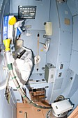 International Space Station toilet