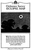 Solar eclipse map,1927