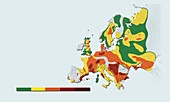 Geothermal mapping,Europe