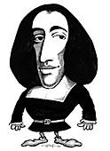 Baruch Spinoza,caricature