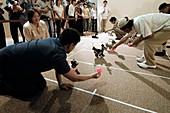 AIBO robot dog racing