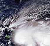 Tropical storm Noel,satellite image