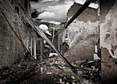 Fire destruction,artwork