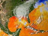 Hurricane Katrina sea surface temperature