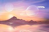 Alien landscape,artwork