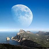Moonrise over Mallorca