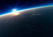 Sunrise over Earth,artwork
