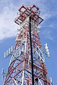 Radio transmitter mast