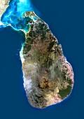 Sri Lanka,satellite image