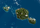 Tahiti,satellite image
