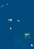 Marquesas Islands,satellite image