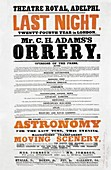 Astronomy lecture poster,1872