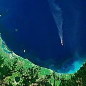 White Island,satellite image