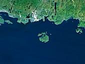 Slate islands,satellite image