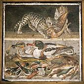 Wildlife scenes,Roman mosaic