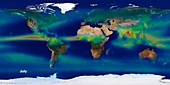 Monthly global precipitation,May