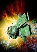 Spaceship,conceptual image