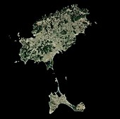 Ibiza,Spain,satellite image