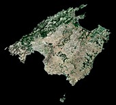 Majorca,Spain,satellite image